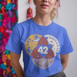 Vintage Life Universe Everything 42 Shirt Science Hiking