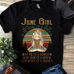 Vintage Yoga June Girl Shirt The Soul Of A Witch
