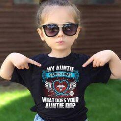 Aunt Nurse Shirt My Auntie Saves Lives Scrubs