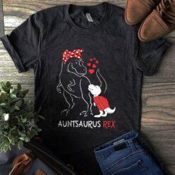 Aunt Shirt Auntsaurus Red Bandana