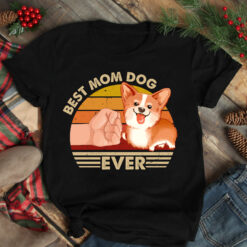 Best Mom Ever Shirt Vintage Best Corgi Dog Mom Ever