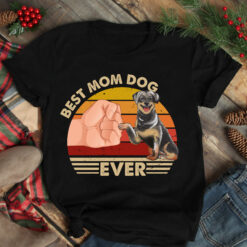 Best Mom Ever Shirt Vintage Best Rottweiler Mom Ever