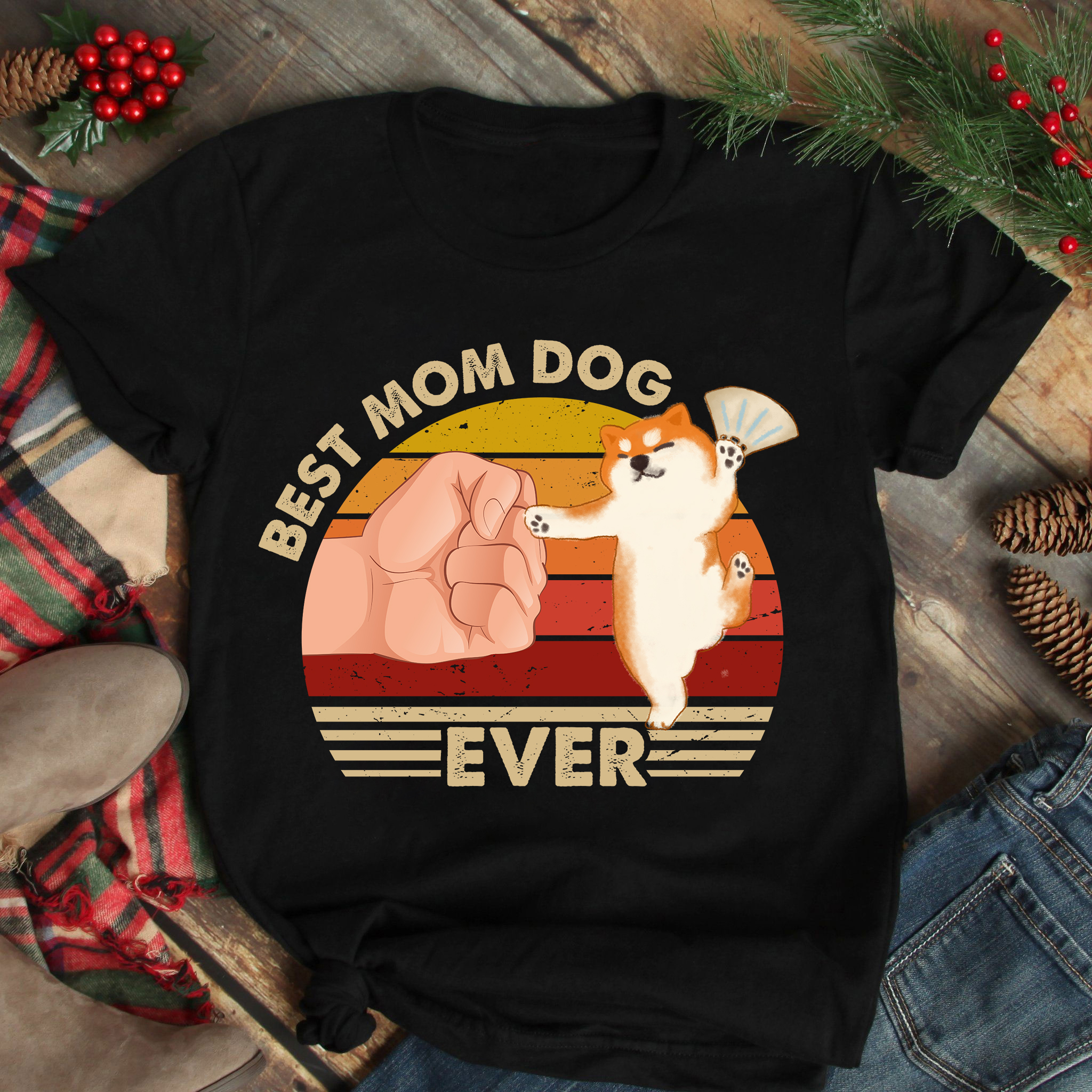 Best Mom Ever Shirt Vintage Best Shiba Mom Dancing