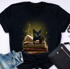 Black Cat Shirt Cat Fireflies Books