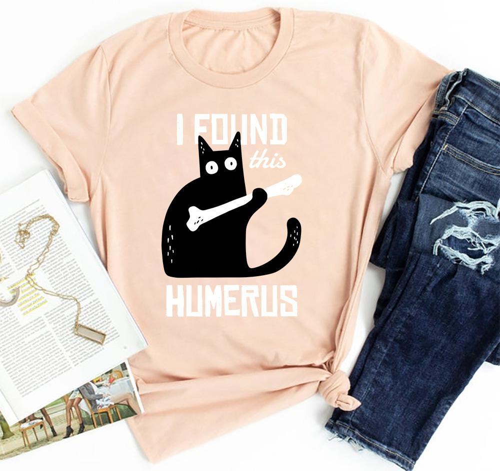 Black Cat Shirt I Found This Humerus