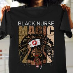 Black Nurse Shirt Magic Beautiful African Nurse