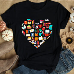 Book Shirt Book Heart Book Lover