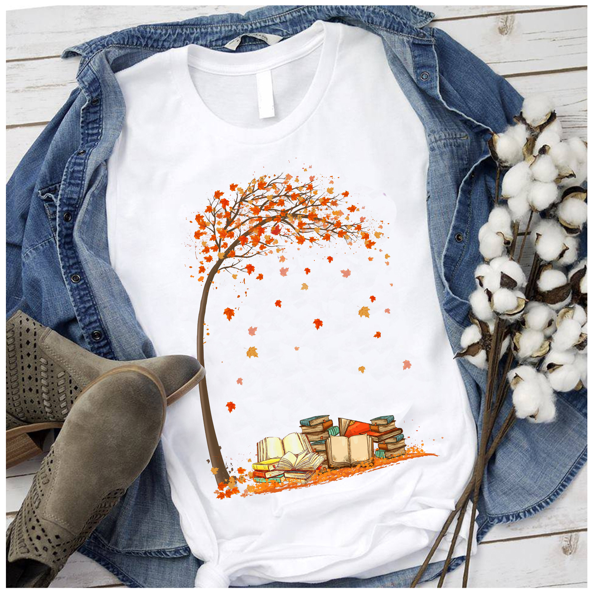 Book Shirt Books And Maple Tree