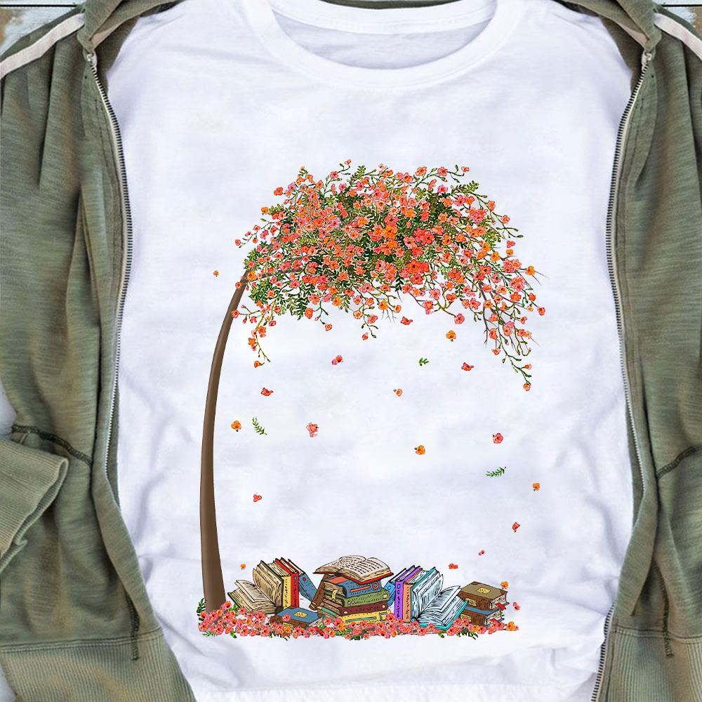 Book Shirt Books And Tree