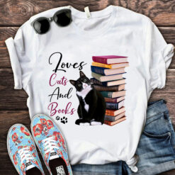 Book Shirt Loves Cats And Books