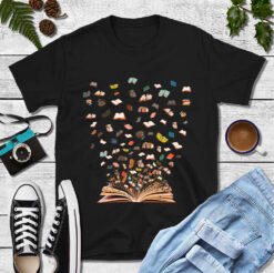 Bookworm Shirt Books Flying