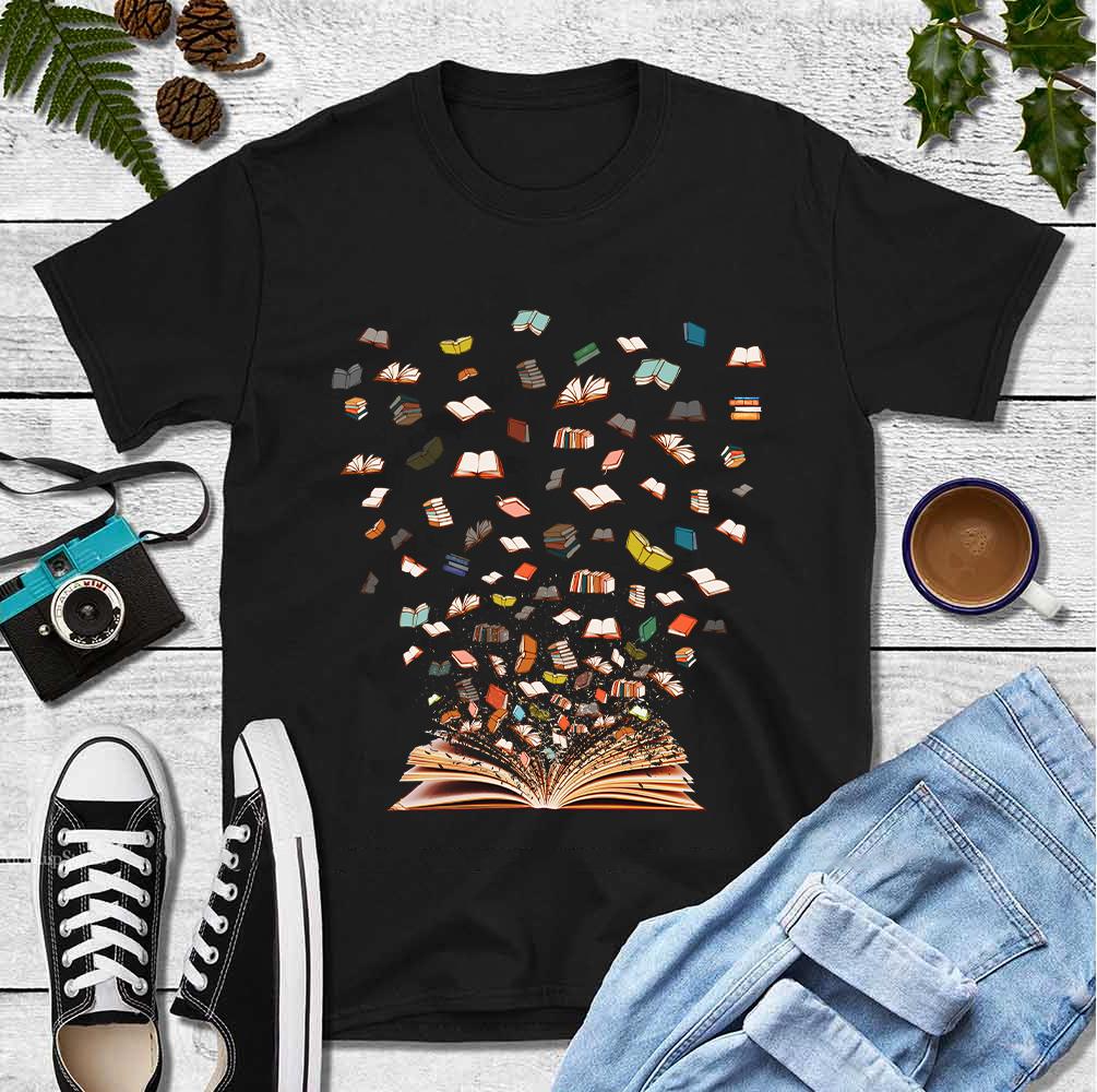 Bookworm Shirt Books Flying