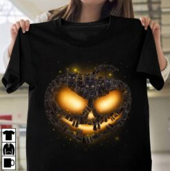 Cat Shirt Black Cat Pumpkin Halloween