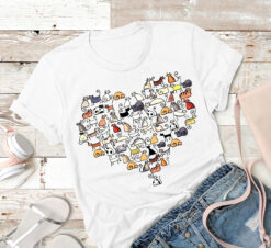 Cat Shirt Cat Types Heart