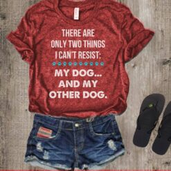 Dog Shirt Two Things Can't Resist My Dog My Another Dog