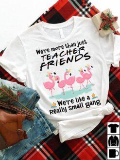 Flamingo Teacher Shirt We're More Than Teacher Friends