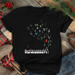 Garden Shirt Piano Music Notes Fly