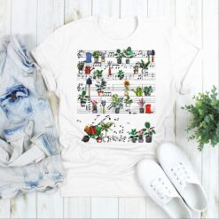 Garden Shirt Plants Music Notes