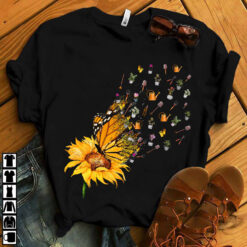 Garden Shirt Sunflower Butterfly Gardening Tools Fly