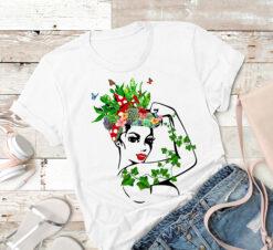 Gardener Shirt Flower Girl Red Bandana