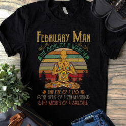 Hippie Yoga Shirt February Man The Soul Of A Warrior