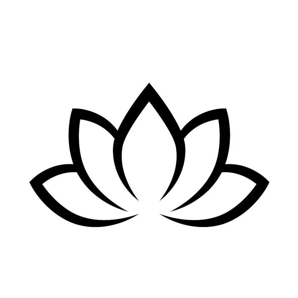 Lotus flower is one of the common yoga symbols
