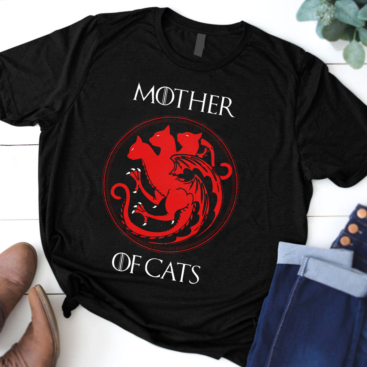 Mother Of Cats Shirt House Targaryen Cats