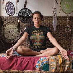 Namaste Shirt Hippie Girl Mother Fucker Lotus