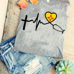 New Mexico Nurse Shirt Heartbeat Stethoscope