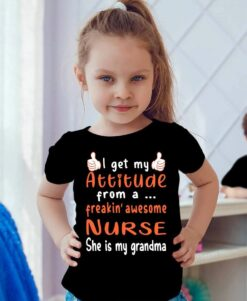 Nurse Shirt Freaking Awesome Nurse She Is My Grandma