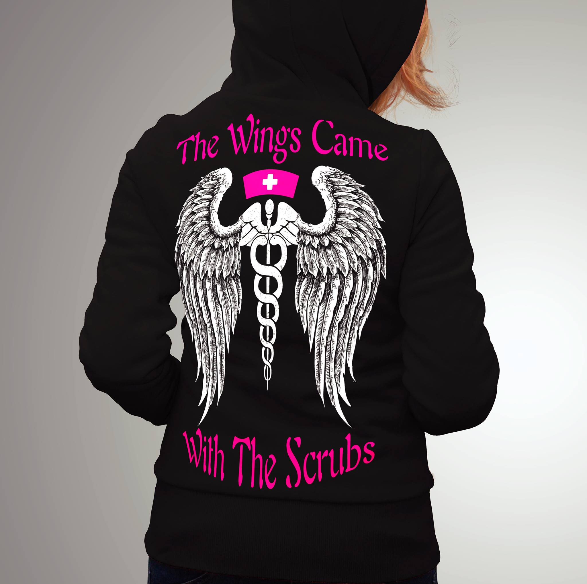 Nurse Shirt The Wings Came With The Scrubs