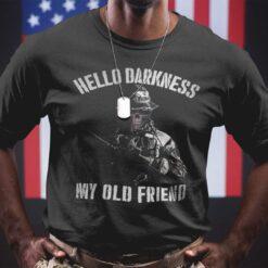 Skull Veteran Shirt Hello Darkness My Old Friend