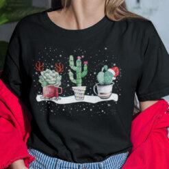 Succulent Shirt Cactus Santa Hat Reindeer