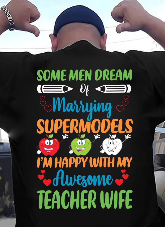 Teacher's Husband Shirt Happy With My Awesome Teacher Wife