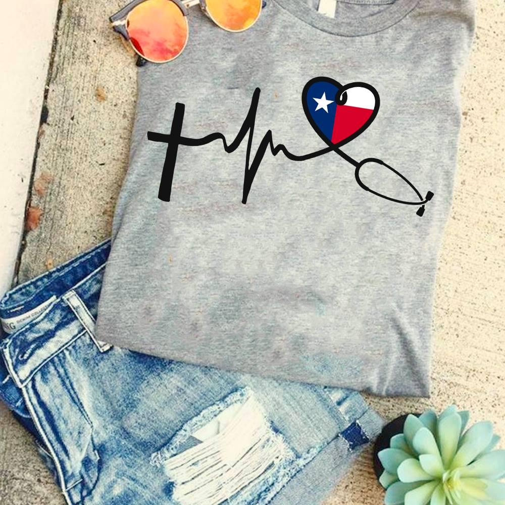 Texa Nurse Shirt Stethoscope Heartbeat