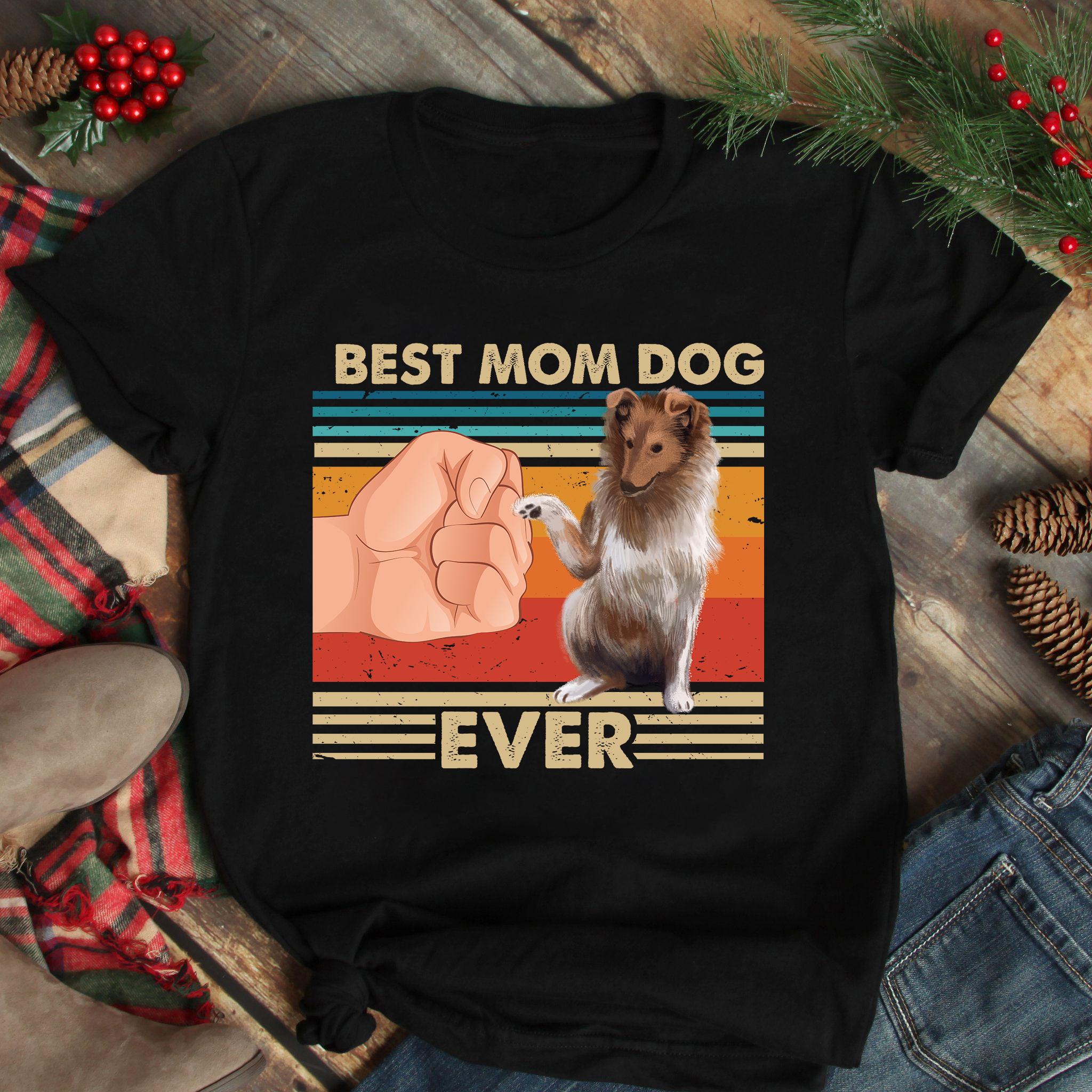 Vintage Best Mom Ever Shirt Best Gollie Dog Mom Ever