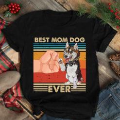 Vintage Best Mom Ever Shirt Best Husky Dog Mom Ever