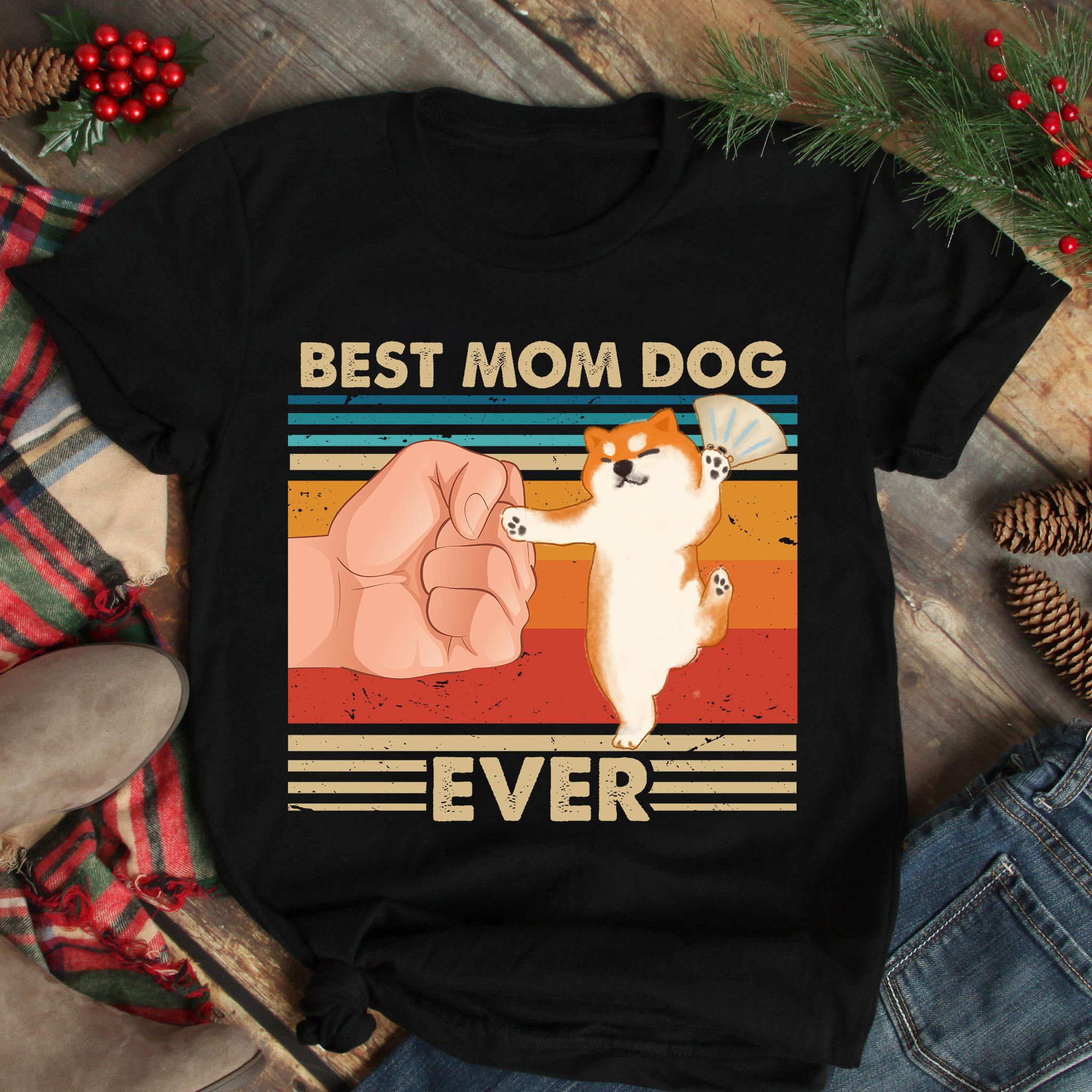 Vintage Best Mom Ever Shirt Best Shiba Mom Dancing