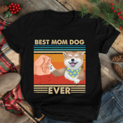 Vintage Best Mom Ever Shirt Best Shiba Mom Ever