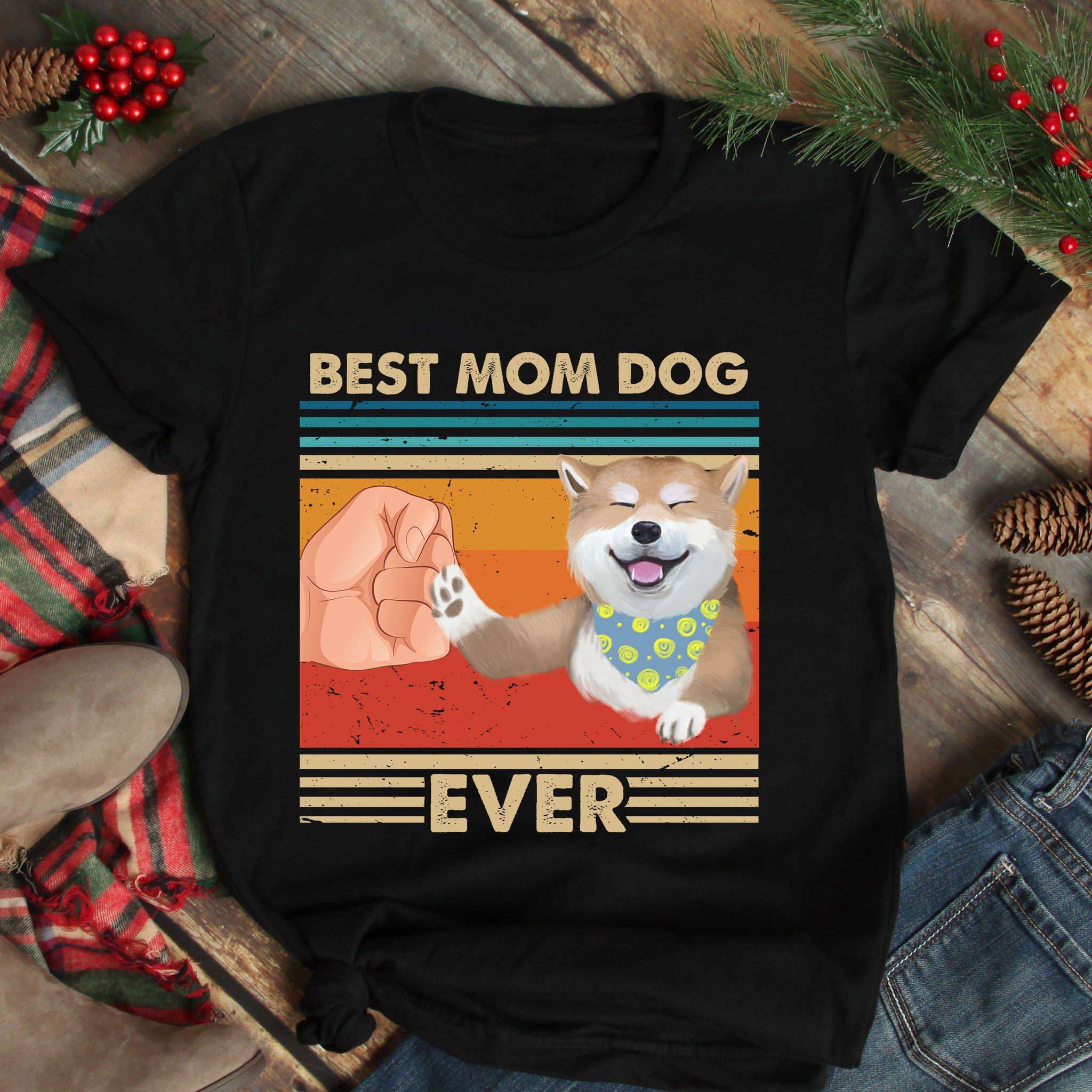 Vintage Best Mom Ever Shirt Best Shiba Mom Ever