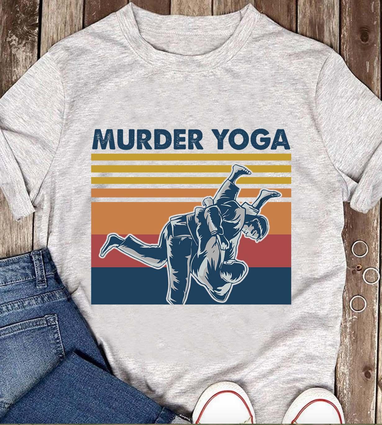 Vintage Murder Yoga Shirt Jiu Jitsu
