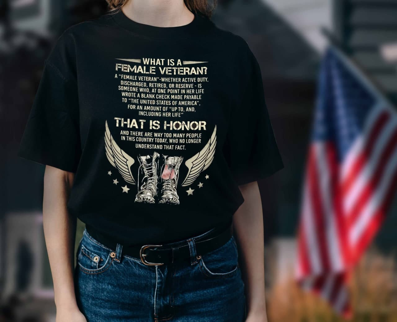 What Is A Female Veteran Shirt That Is Honor