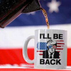 2024-Trump-I'll-Be-Back-Mug-US-Flag-Glasses-Promotion