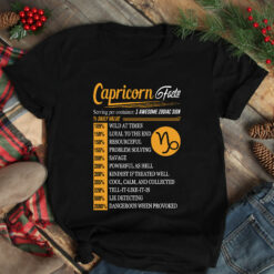 Capricorn Facts 1 Awesome Zodiac Sign Shirt