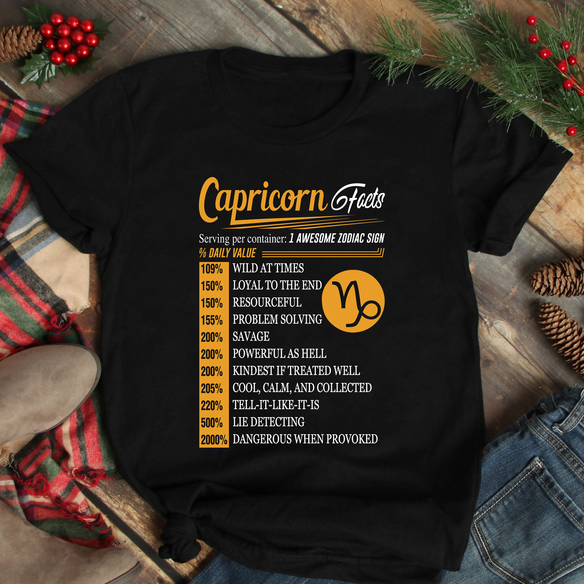 Capricorn Facts 1 Awesome Zodiac Sign Shirt