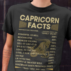 Capricorn Facts Shirt 1 Awesome Zodiac Sign