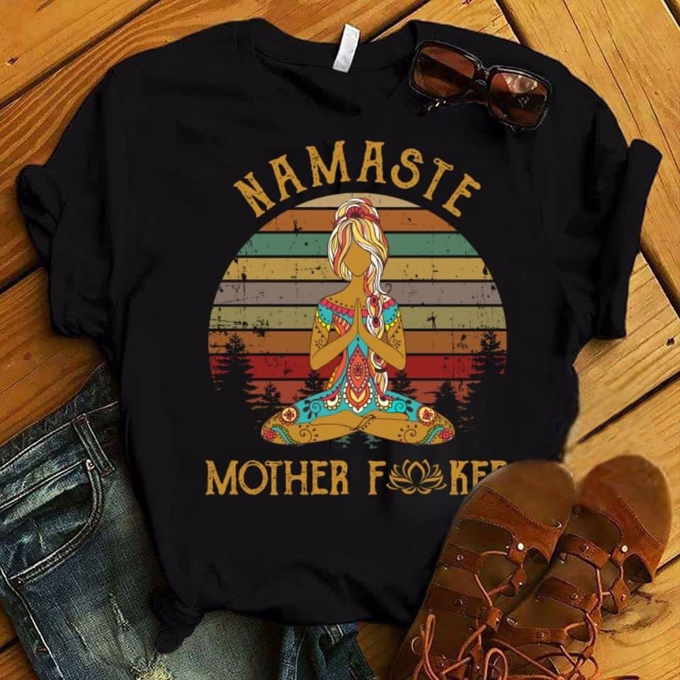 Namaste-Shirt-Hippie-Girl-Mother-Fucker-Lotus-best-gifts-for-yoga-lovers