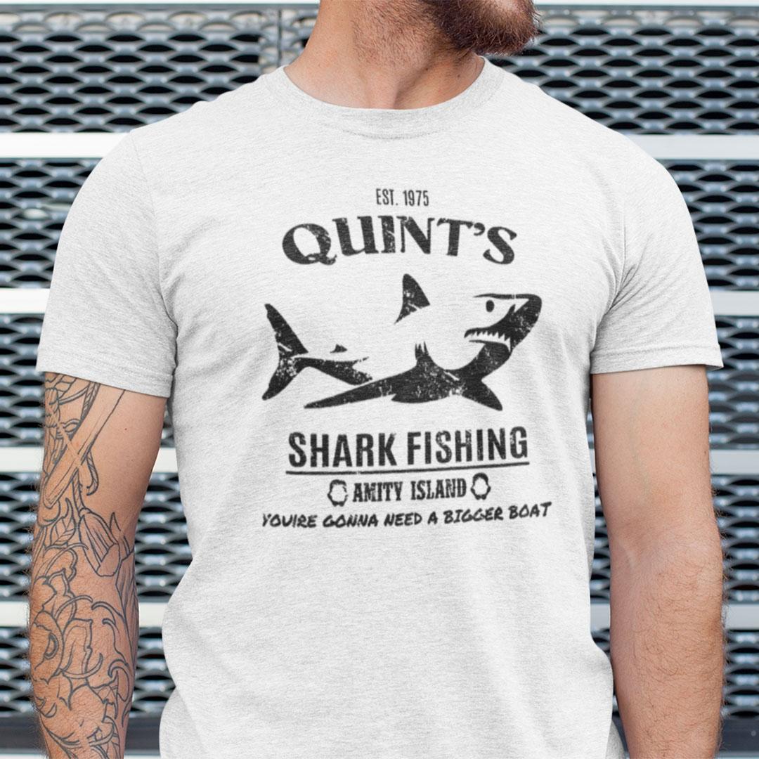 Quint's Shark Fishing Shirt Est 1975