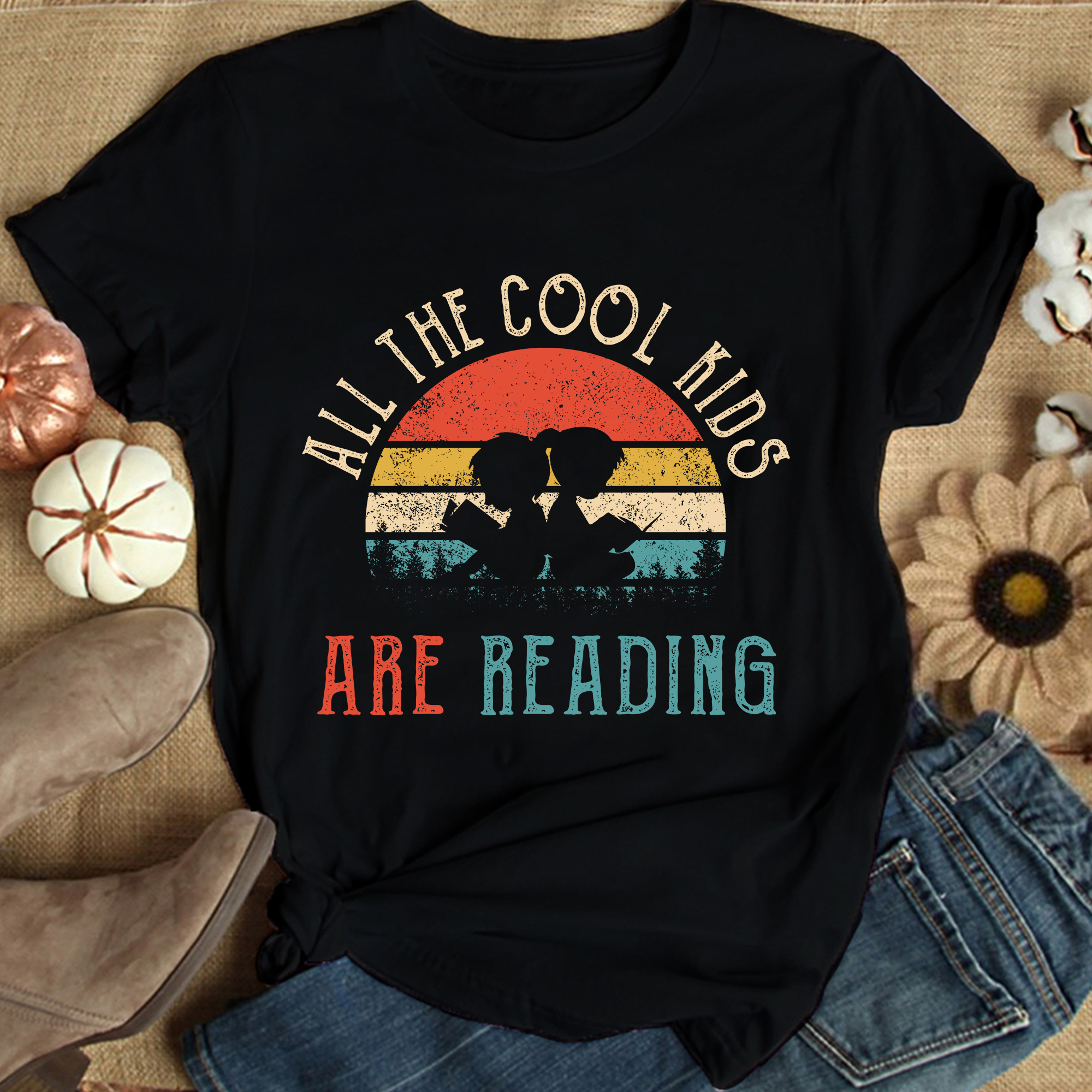 Vintage All The Cool Kids Are Reading Shirt
