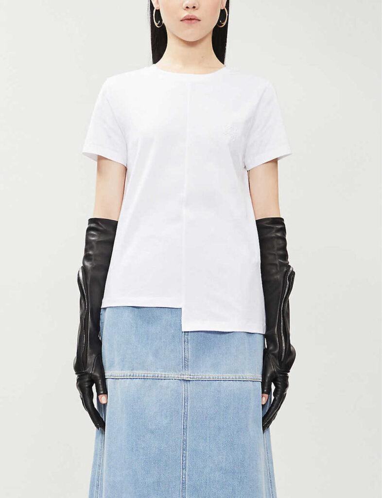 Asymmetric-cotton-jersey-T-shirt-best-white-tshirt-for-women
